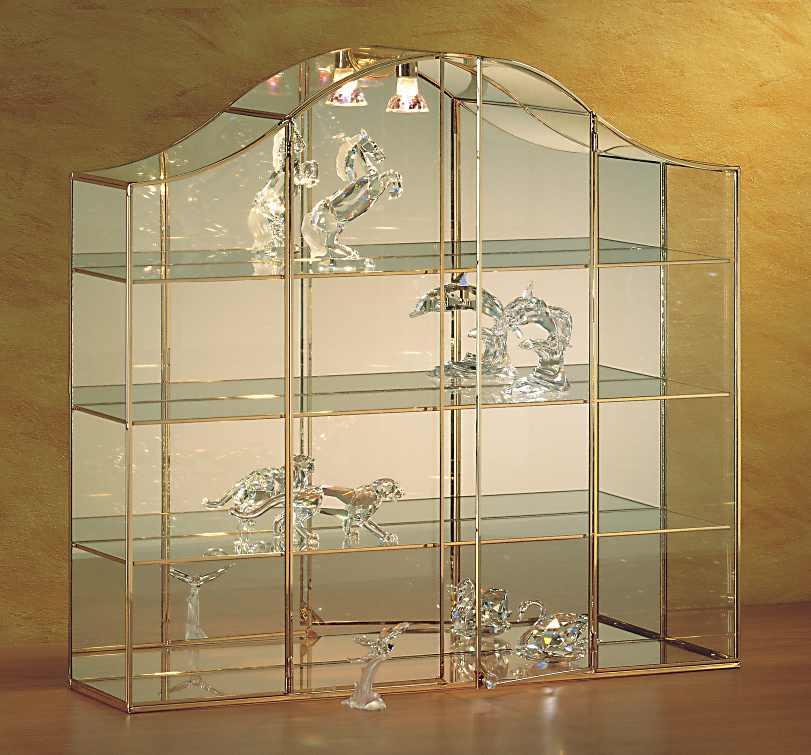 Vetrine di lusso da esposizione in oro a 24 carati per for Grandi case cabinate